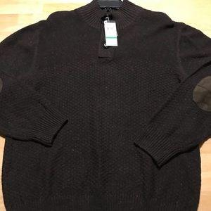 Men's Haggar Beaver Heather Pullover Sweater Sz Lg